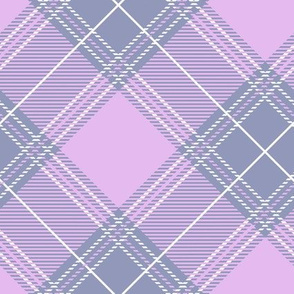 Lavender Diagonal Plaid V01