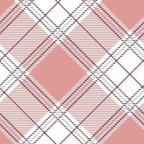 Old Rose Diagonal Plaid V01