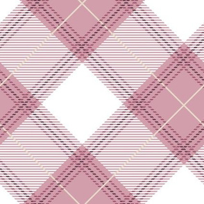 Pink Diagonal Plaid V01