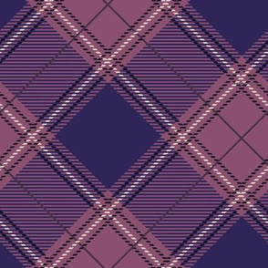 Plum Diagonal Plaid V01