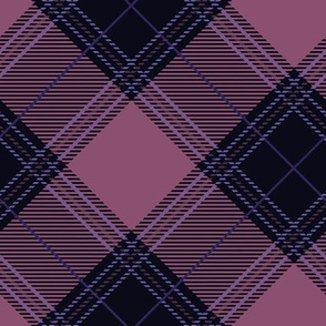 Purple Diagonal Plaid V01