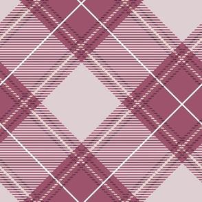 Rose Diagonal Plaid V01