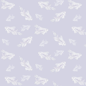 CUSTOM White Fish II Lavender Memory Wallpaper