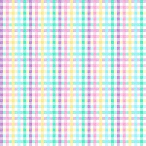 (micro scale) Easter Plaid - Spring Plaid - Easter egg colors - Gingham Check - LAD20BS