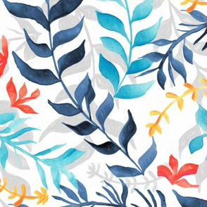 Gouache Sea Plants (Large Version)