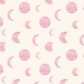 Moon phase stars universe mystic dreamy night nursery soft yellow beige pink