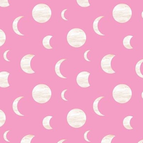 Moon phase stars universe mystic dreamy night nursery pink