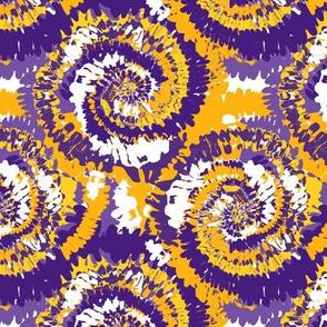 louisiana tie dye fabric - tie dye, purple and gold, purple and yellow