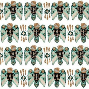 Layered Paper boho birds repeating