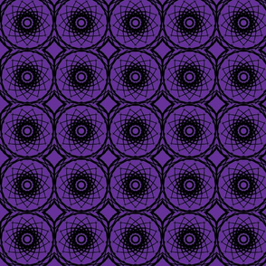 Black spiral on purple