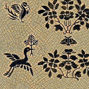 Folk Art Bird Mosaic