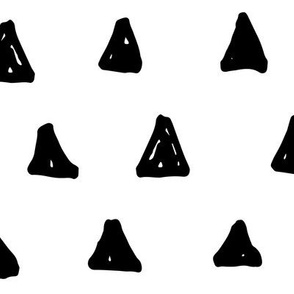 triangles XL black and white doodled ink 500% scale