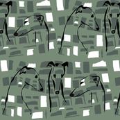 greyhound friends, green