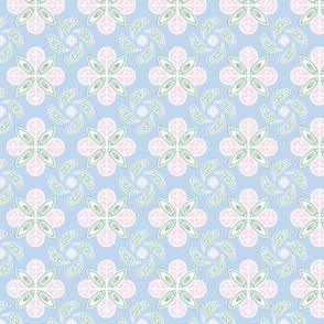 Batik Floral Pastel 001