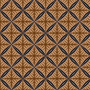 Geometric Batik in Sogan
