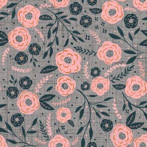 Fleurs - Grey (Microprint)