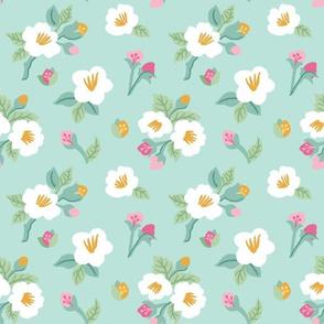 Cruz Floral Teal