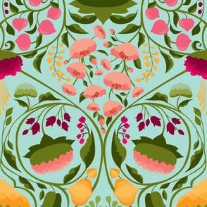 The Blossoming Garden {Raspberry} -medium scale