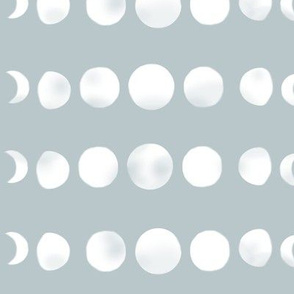 moon phases - blue grey
