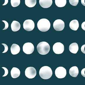 moon phases - ink