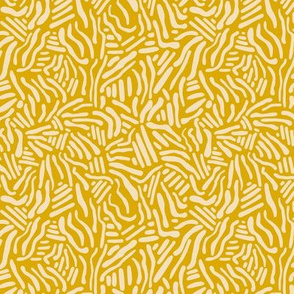 Abstract Lines - Micro Print Mustard