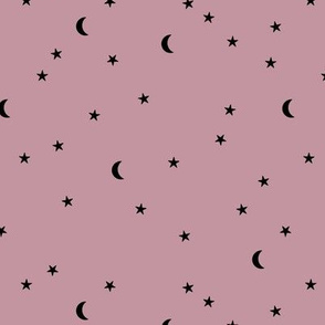 Dreamy boho night counting stars under the moon woodland camping trip spring summer purple mauve neutral SMALL