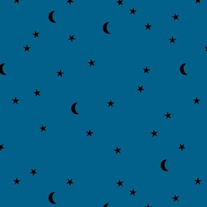 Dreamy boho night counting stars under the moon woodland camping trip spring summer night navy blue neutral SMALL
