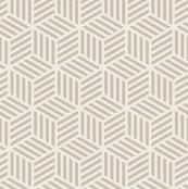 Beige geometric