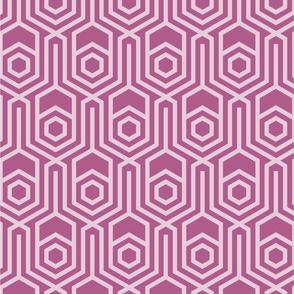 Cyclamen pink geometric