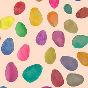 Watercolor Easter Eggs // Peachy Tan Neutral