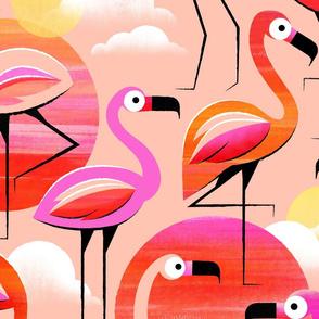 Pink Flamingo Large