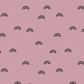 Little rainbow minimal Scandinavian style modern curves purple lilac winter