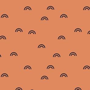 Little rainbow minimal Scandinavian style modern curves cinnamon brown