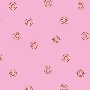 Let the sunshine in summer sunny day minimal Scandinavian style modern sun nursery design pink rust girls