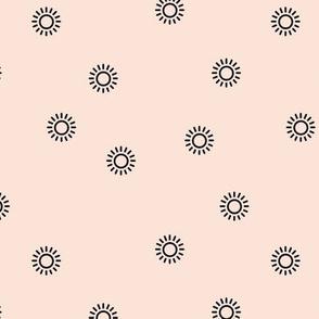 Let the sunshine in summer sunny day minimal Scandinavian style modern sun nursery design beige black neutral