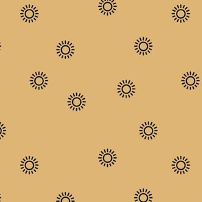 Let the sunshine in summer sunny day minimal Scandinavian style modern sun nursery design yellow mustard