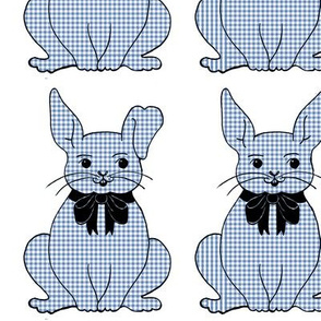Gingham Bunny (blue)
