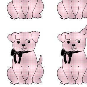 Gingham Puppy (Pink)