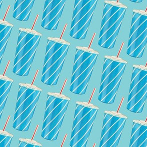 Soda Cup Pattern - Blue