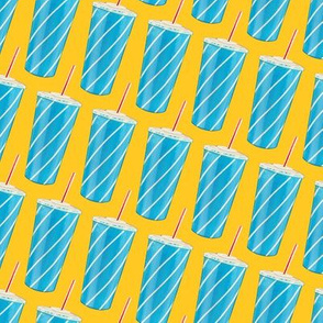 Soda Cup Pattern - Yellow