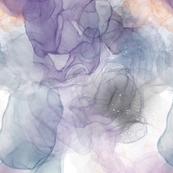 Alcohol ink dreamy flow print
