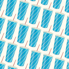 Soda Cup Pattern - White