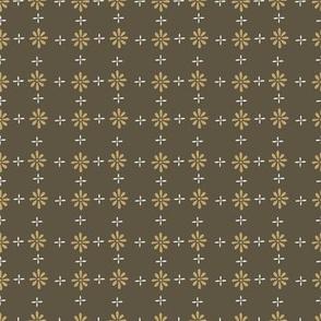 Olive vintage daisy