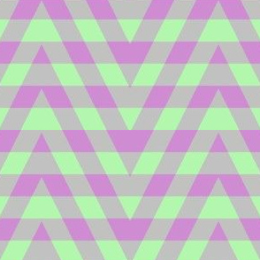 JP25 - Buffalo Plaid Zigzags on Stripes in  Lilac and Limey Mint