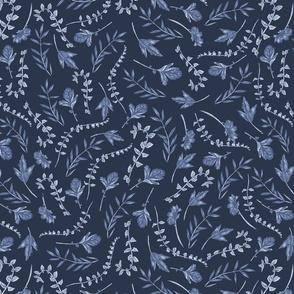classic blue leaves