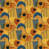 Abstract composition - Mini mustard