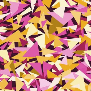 Trippy Triangles - Pink and Orange