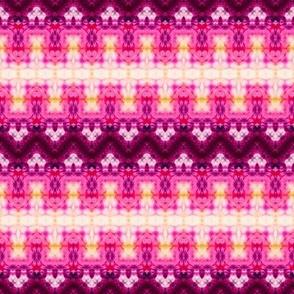 Pink & White Blended Zigzag