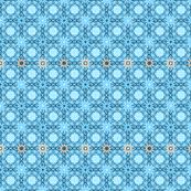 Blue Geometric Floral