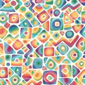 Soft geometric in rainbow colors